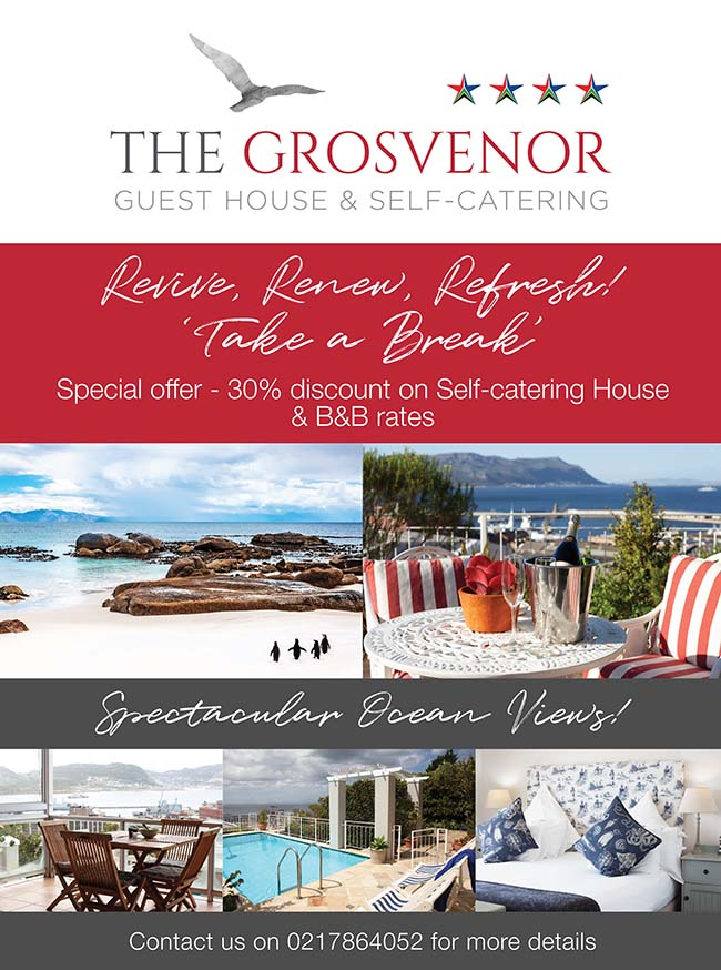 30% Discount @ The Grosvenor Guest House Simons Town